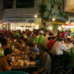 crowded asian hawker stall
