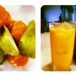 Fresh Pear and Mandarin Juice