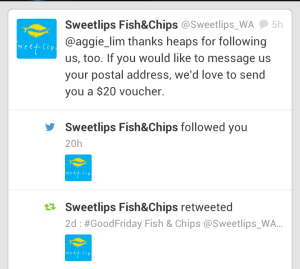 Sweetlips Twitter mentions
