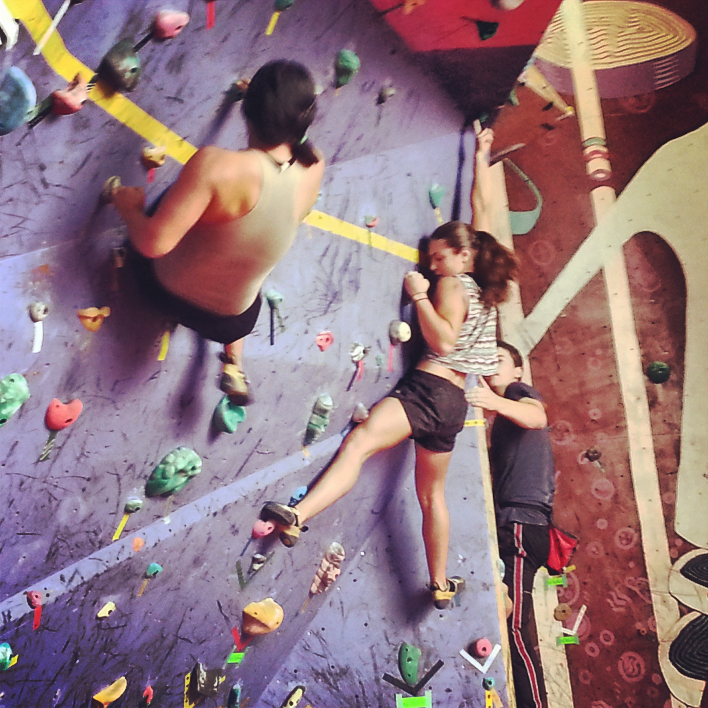 Women Climbers at Bouldering Championships